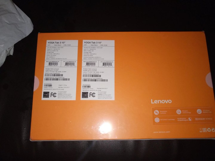 Lenovo Yoga Tab 3 10 Boxed 2