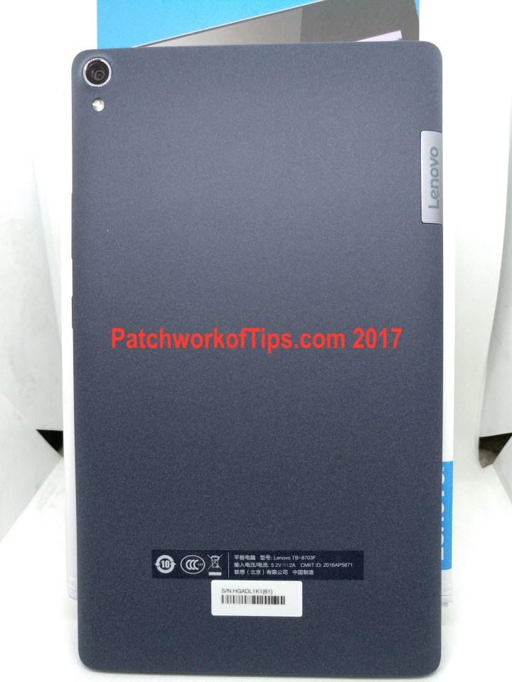 Lenovo TAB3 8 Plus Back