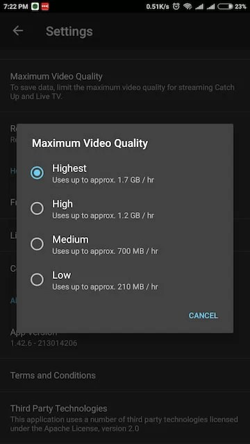 DSTV NOW Review – Stream Maximum Video Quality Setting
