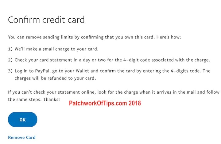 Confirm New Nigerian Debit Card To Paypal 5