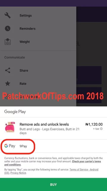 9Pay Google Play Store In-App Billing