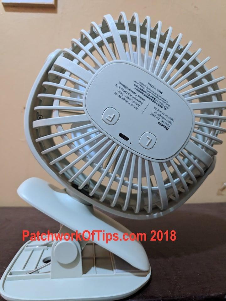 BaseUS ZW-2816 Desktop USB Fan Back