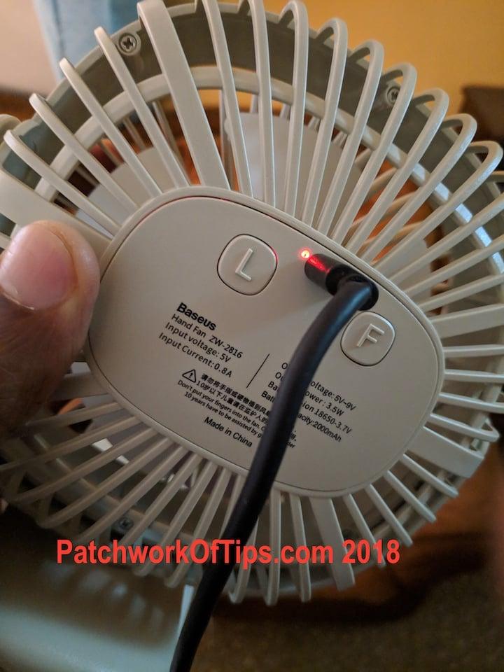 BaseUS ZW-2816 Desktop USB Fan Charging