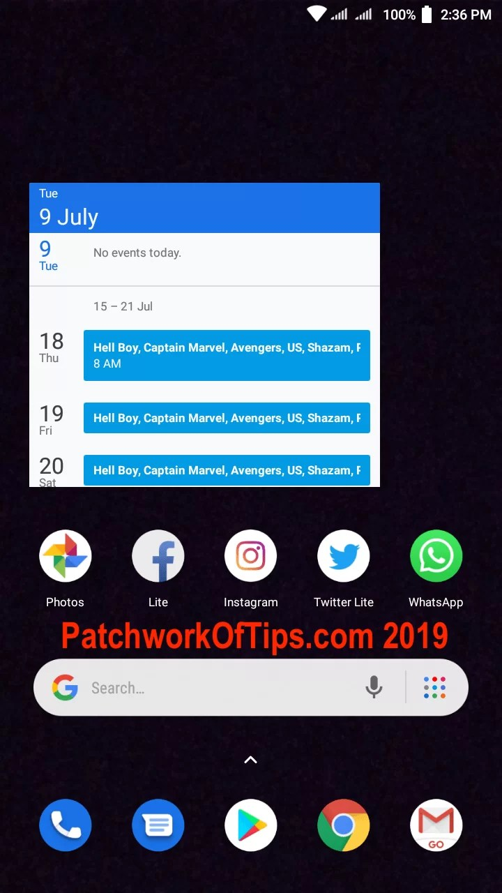 Xiaomi Redmi Go Screenshots Desktop Layout