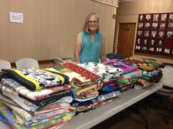 Hilary at Quilt Table