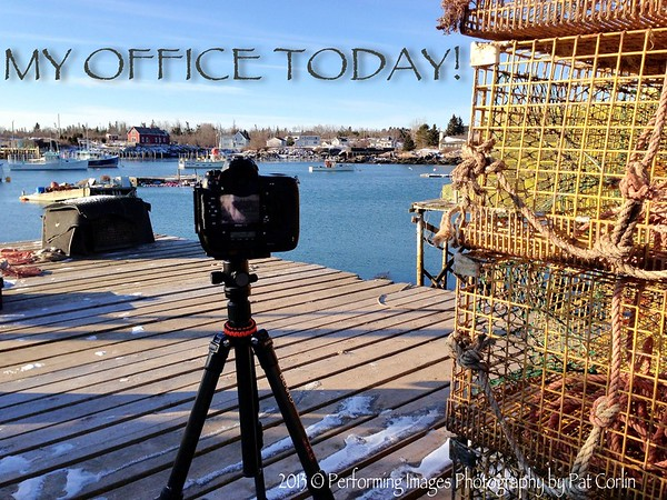 """My Office Today""        7 AM,  8 degrees Above ZeroCorea Harbor, Down East Maine ... Ayah, that's exactly wayuh I'm working' today ;-)2013 © Performing Images Photography by Pat CorlinAll Rights Reserved  www.PatCorlinPhotography.com"