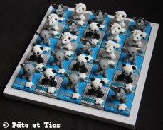 Boîtes à dragées animaux exotiques avec koalas, éléphants d'Asie, pandas et tigres blancs