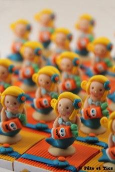 Boîtes à dragées sirènes et carottes