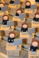 Boîtes à dragées comptables employées de bureau