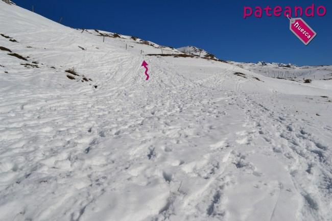 Inicio de la ruta al Pico Petruso