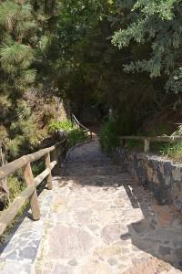 Tramo del acceso a la Piedra de La Rosa