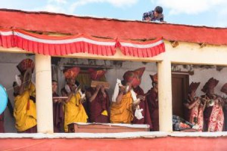 Musicians, Korzok Gustor Festival, Tso Moriri, Ladakh