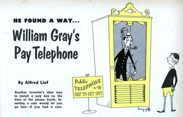Image result for William Gray coin operated phone patent