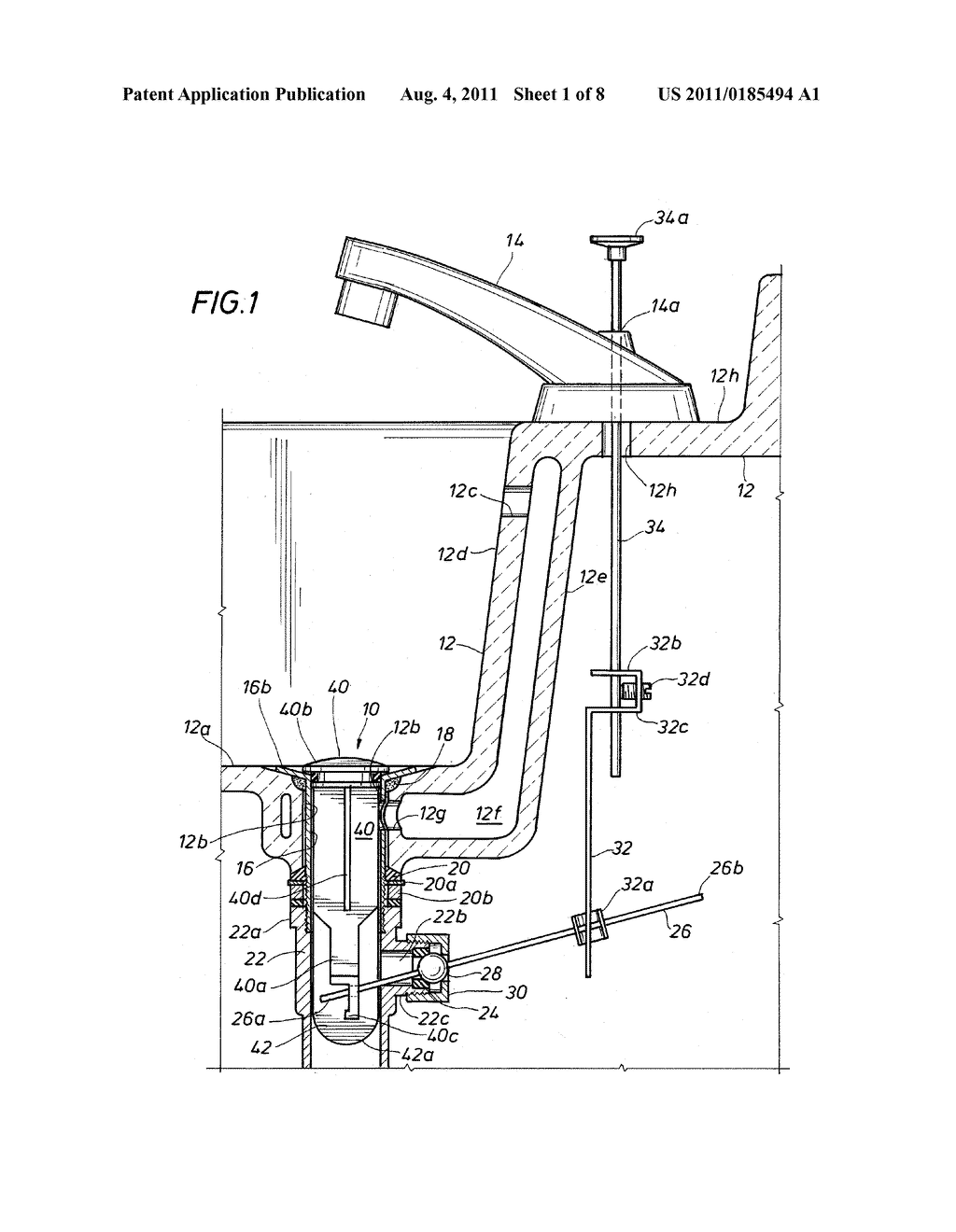 Pop Up Drain Assembly