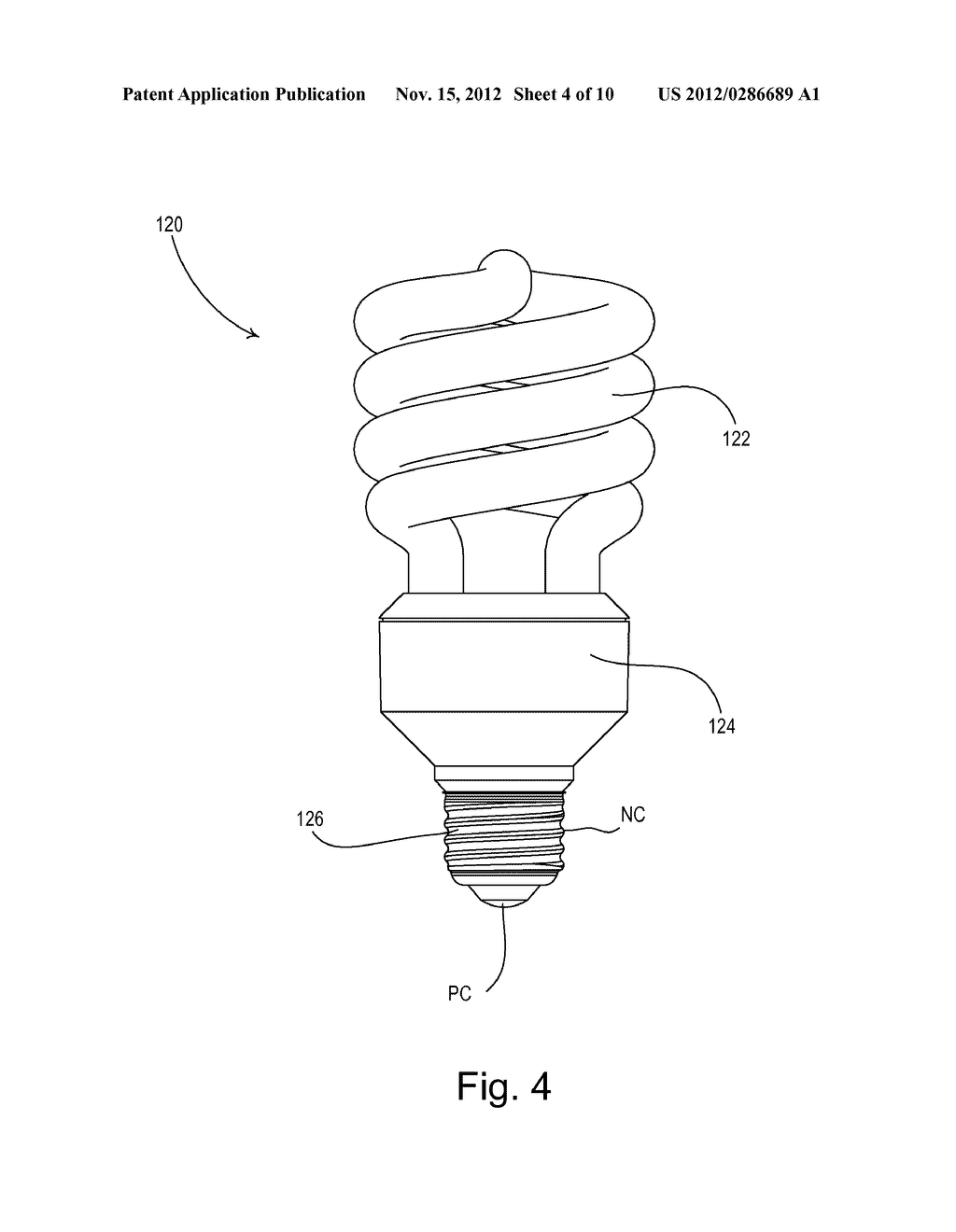 Dimmable screw in pact fluorescent l having integral