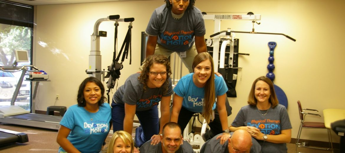 therapists in pyramid celebrate national physical therapy month