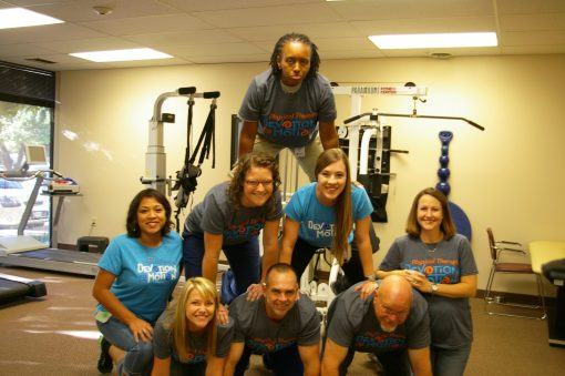 therapists in a pyramid for national physical therapy month