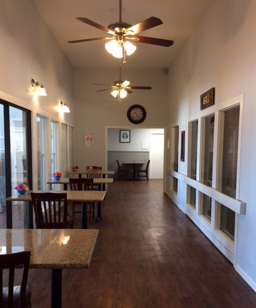 dining hallway at supported living house