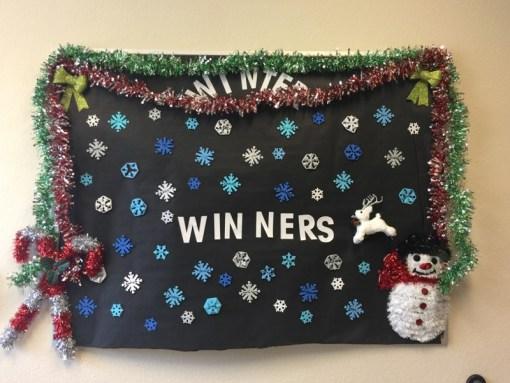 winter decoration board