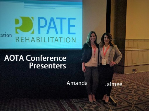 driver rehabiliation class presenters in front of screen