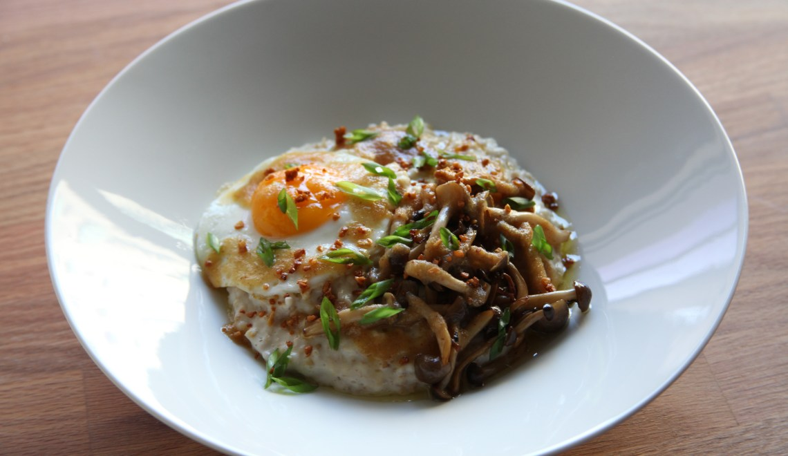 Savory Oatmeal with Miso Butter