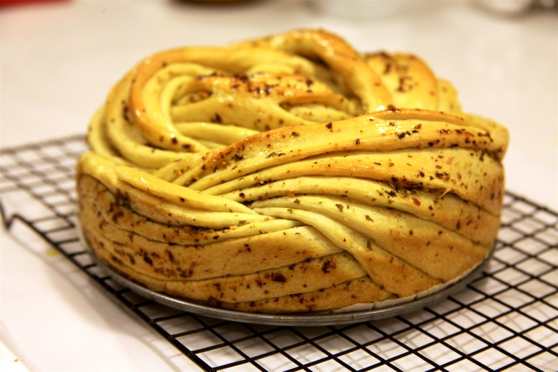 Russian Pesto Braided Bread Recipe