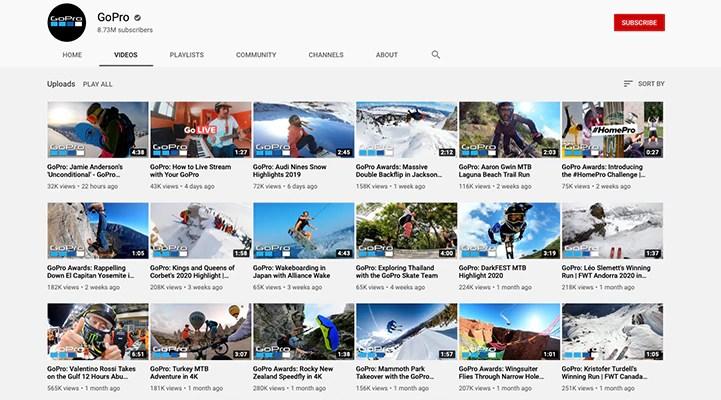 Erfolgreiches YouTube Marketing von GoPro