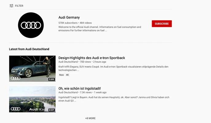 Beispiel von YouTube Marketing