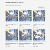Winter Adventure Decals