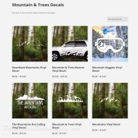 Mountain & Trees Decals