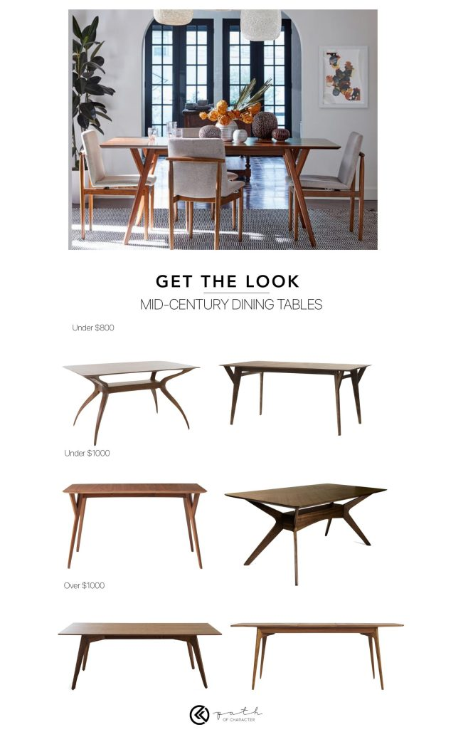 Mid-Century Dining Tables from Path of Character |  pathofcharacter.com
