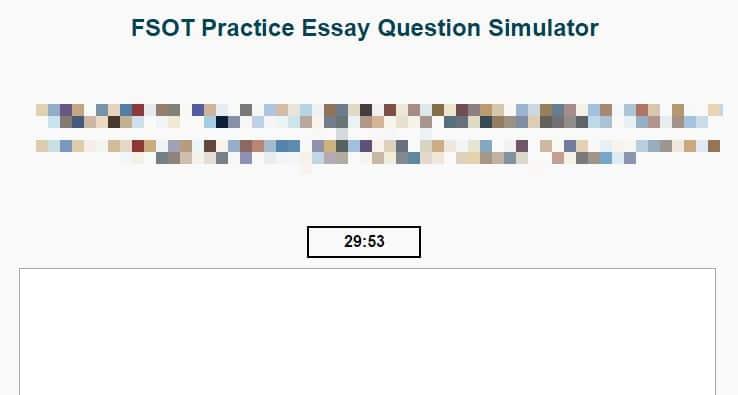fsot essay grading