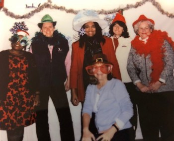 staff at Christmas party
