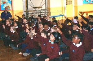 Photograph of children enjoying a Pathway assembly