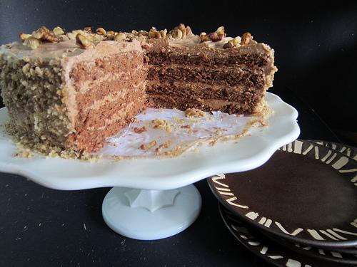 Of Voyages and Venus (Mocha Rum Walnut) Cake