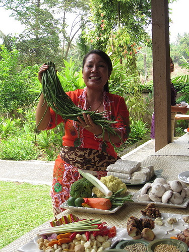 A cooking class in Bali