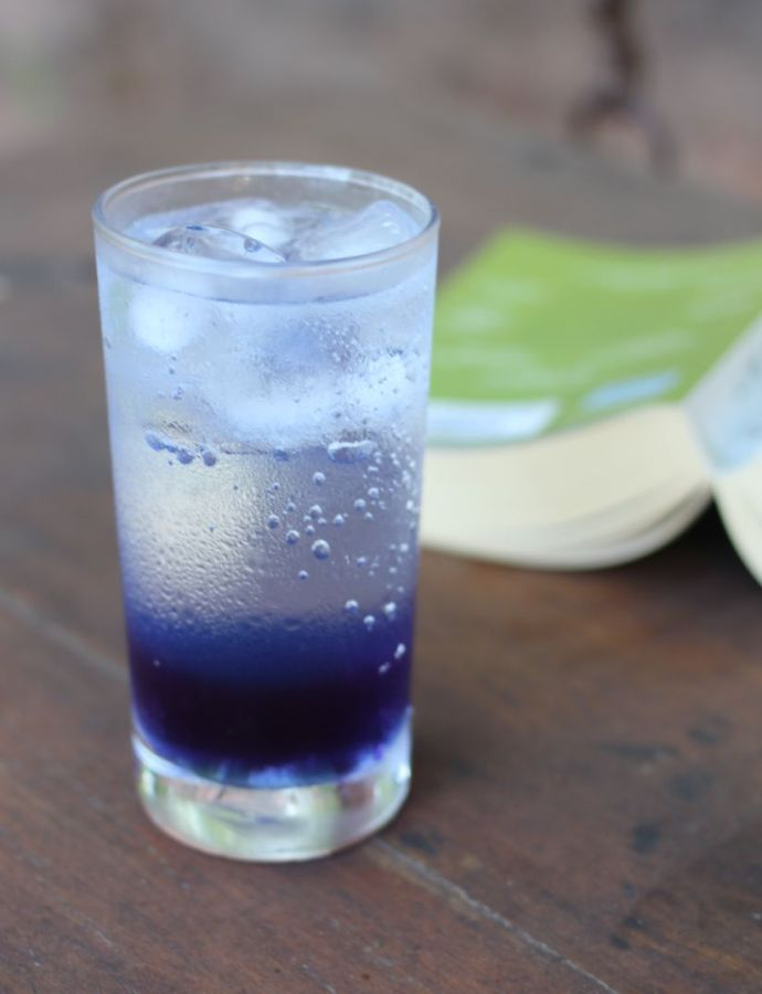 Lavender Cardamom and Blue Vodka Fizzies