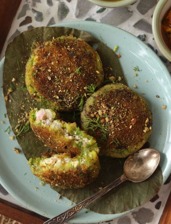 Yeh Mera Dill … [Dukkah-crusted Dill Potato Croquettes Stuffed with Cottage Cheese]