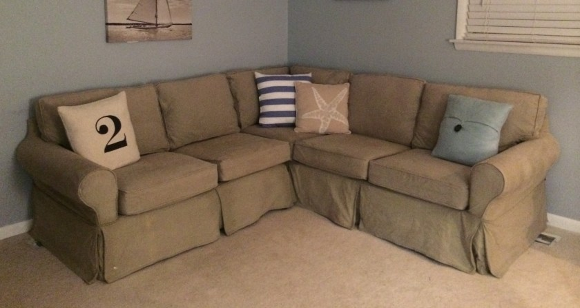 pottery barn sectional couch
