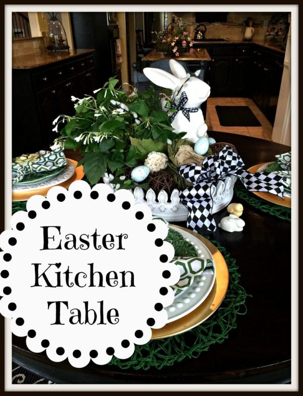 Easter Kitchen table