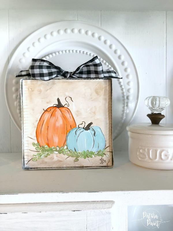 DIY pumpkin art
