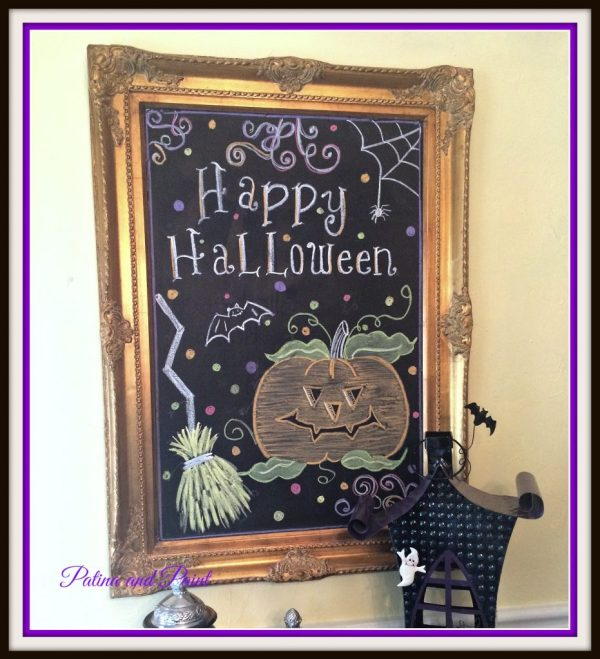 Halloween Chalkboard 14