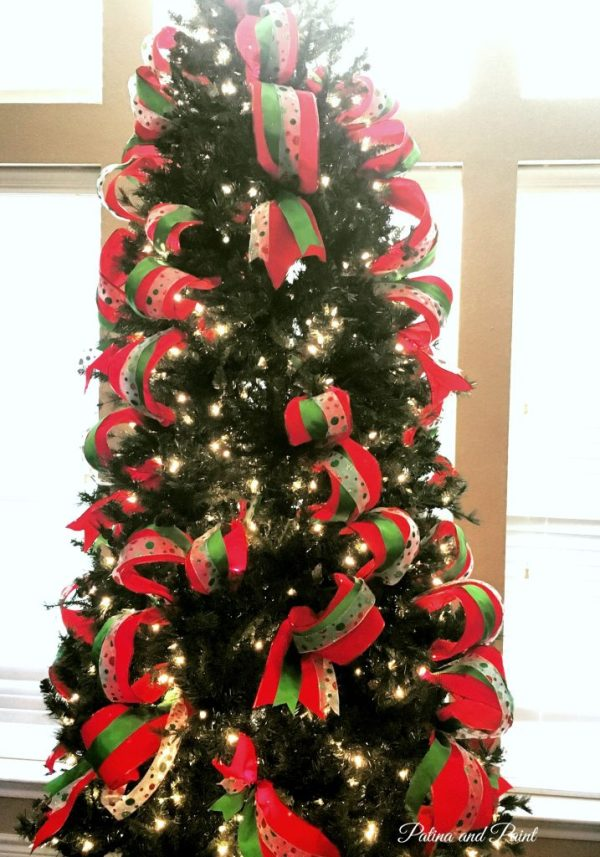how i put ribbon on my christmas tree - How To Put Ribbon On A Christmas Tree