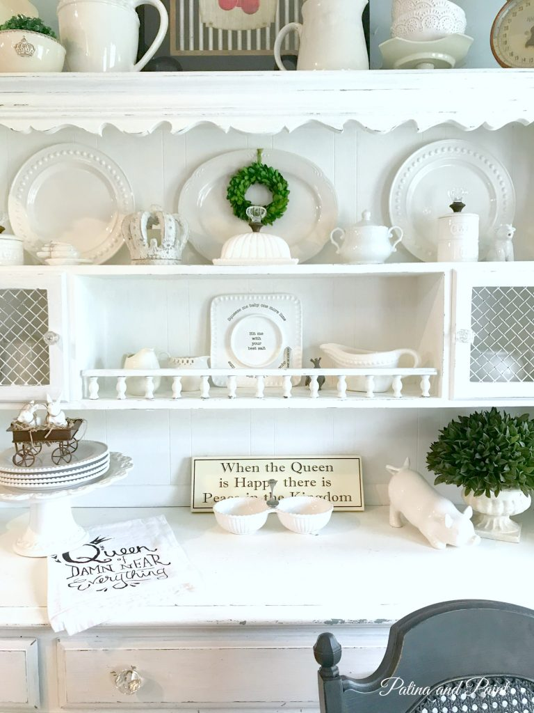 organizing dish for to a before heartwork tips china how style hutch organize cabinet