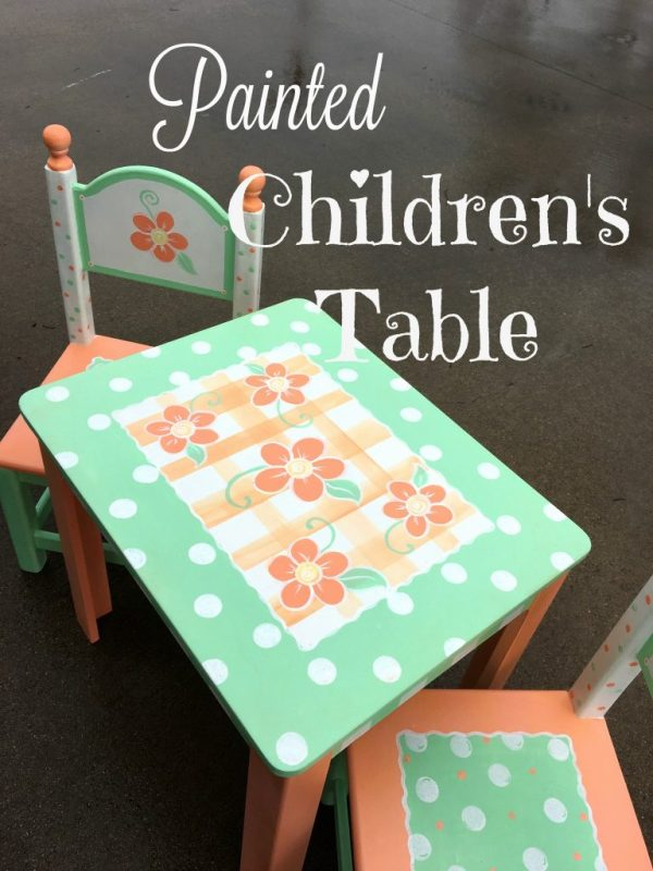 Painted children's table 10