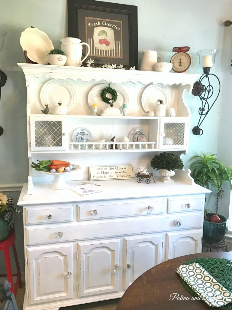 kitchen hutch jar little glass makeover