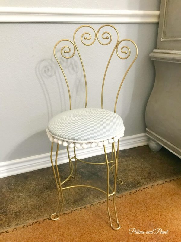 recovered vanity stool