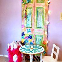 decorated painted door