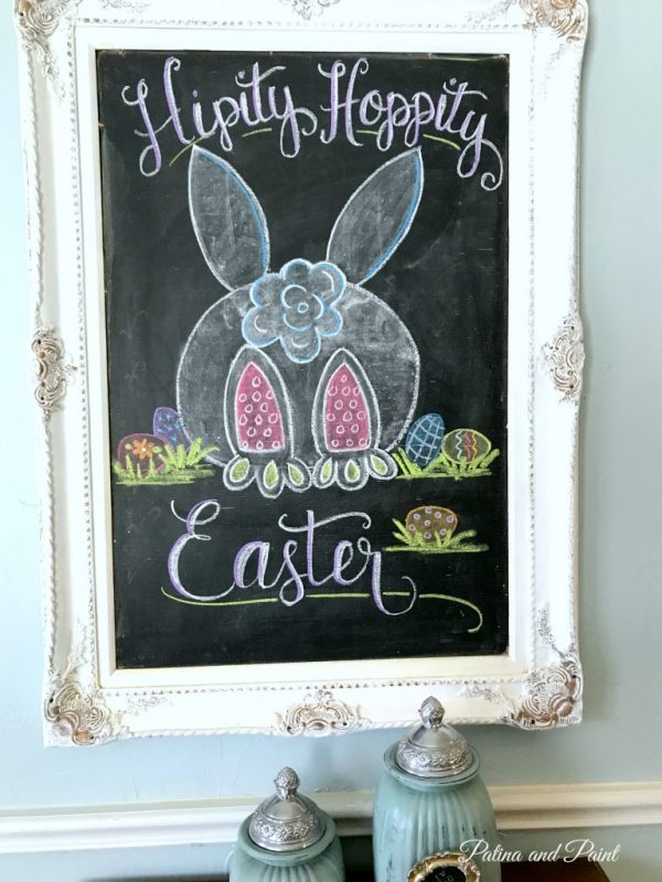 easter chalk board