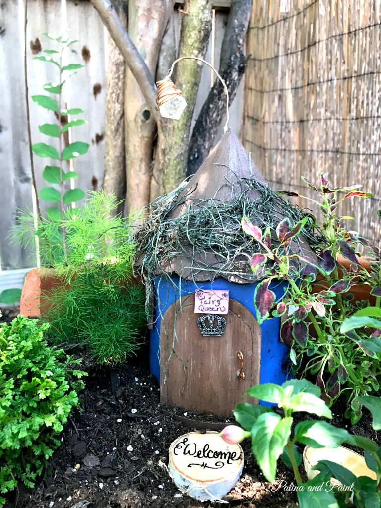Updating the Fairy Garden - Patina and Paint
